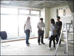 柏 レンタルスタジオ の 内装工事の打ち合わせ