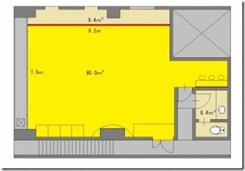 柏 レンタルスタジオ の 図面